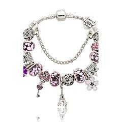 Bransoletki z breloczkami Natura Modny Pudełka i torby biżuteria kostiumowa Kryształ Stop Flower Shape Wieża Biżuteria Na Ślub Impreza