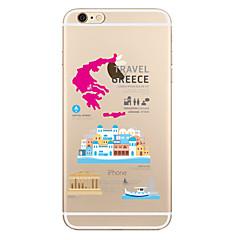 Varten Läpinäkyvä Kuvio Etui Takakuori Etui Kaupunkinäkymä Pehmeä TPU varten AppleiPhone 7 Plus iPhone 7 iPhone 6s Plus iPhone 6 Plus