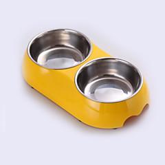 Gato Cachorro Tigelas e Bebedouros Animais de Estimação Tigelas e alimentação de animais Prova-de-Água Preto Branco Azul Rosa Amarelo Lega