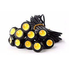 ZIQIAO 1 X 9W 18mm 12V White LED Eagle Eye Light Car Fog DRL Daytime Reverse Backup Parking Signal