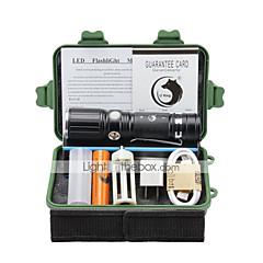 LT LED Lommelygter Lommelygtesæt LED 2000 Lumen 3 Tilstand Cree XM-L T6 18650 AAA 26650 Justerbart Fokus KlemmeCamping/Vandring/Grotte