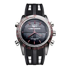 ASJ Pánské Sportovní hodinky Náramkové hodinky Japonské Quartz LED Kalendář Chronograf Voděodolné Hodinky s dvojitým časemKřemenný