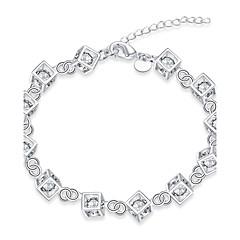 Bracelet Chain Bracelet Charm Bracelet Strand Bracelet Zircon Copper Silver Plated IrregularNatural Friendship Turkish Gothic Fashion