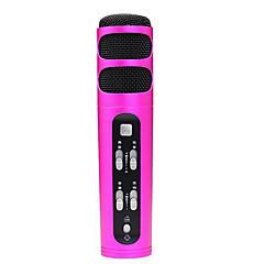 no Kablolu Karaoke Mikrofonu 3.5mm Kırmızı