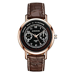 Men's Fashion Casual Simple Business Wristwatch Analog Quartz Leather Band Cool Watch Unique Watches For Men