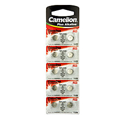 Camelion AG3 Coin Button Cell Alkaline Battery 1.5V 10 Pack