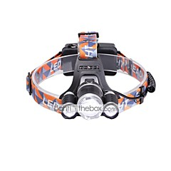 Pannlampor LED 6000 Lumen 3 Läge Cree XM-L T6 18650 Justerbar fokus Kompakt storlekCamping/Vandring/Grottkrypning Vardagsanvändning