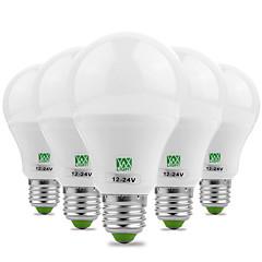 7W E26/E27 LED-globlampor 14 SMD 5730 600-700 LM Varmvit Kallvit Dekorativ AC 12 V 5 st