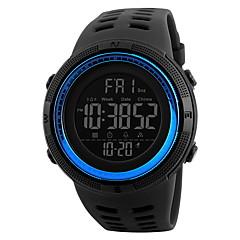 Męskie Sportowy Zegarek na nadgarstek Chiński Cyfrowe LCD Kalendarz Wodoszczelny Dwie strefy czasowe alarm Stoper Guma Pasmo Nowoczesne