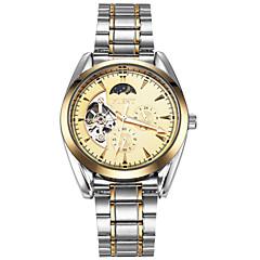 ASJ Heren mechanische horloges Japans Automatisch opwindmechanisme Maanfase Roestvrij staal Band Vintage Cool Vrijetijdsschoenen Luxueus