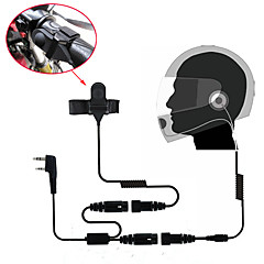 motorfiets integraalhelm headset oortelefoon voor twee manier radio walkie talkie 365 baofeng Kenwood Wanhua