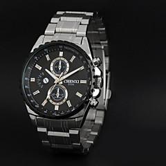 CHENXI® Heren Dress horloge Kwarts Japanse quartz Roestvrij staal Band Wit Zwart