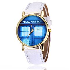 Uniseks Modieus horloge Polshorloge Kwarts / Maanfase PU Band Kat Cool Zwart Wit Wit Zwart Blauw
