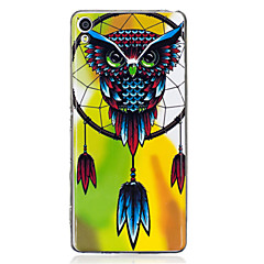 For Sony Xperia XA Case Cover Owl Wind Chimes Pattern Luminous TPU Material IMD Process Soft Case Phone Case