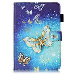 För Skal fodral Plånbok Korthållare med stativ Lucka Mönster Heltäckande fodral Fjäril Hårt Konstläder för AppleiPad Mini 4 iPad Mini