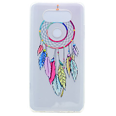 For Transparent Mønster Etui Bagcover Etui Drømmefanger Blødt TPU for LG LG K10 LG K8 LG K7 LG G6 LG Nexus 5X LG V20 LG X Power