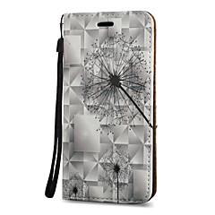 Mert Kártyatartó Állvánnyal Flip Mágneses Minta Case Teljes védelem Case Pitypang Kemény Műbőr mert Samsung Note 5 Note 4 Note 3