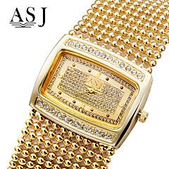 Damskie Modny Zegarek na bransoletce Sztuczny Diamant Zegarek Japoński Kwarcowy sztuczna Diament Kryształ górski Stop PasmoBłyszczące