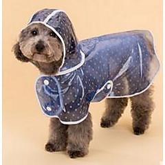 Σκυλιά Αδιάβροχο Πάλτο Ρούχα για σκύλους Χειμώνας Άνοιξη/Χειμώνας Πουά Cute Μπλε Ροζ