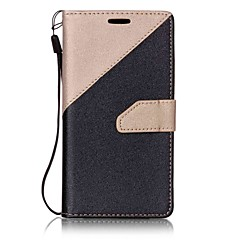 For LG K7 K10 Case Cover Two Colors Stitching Card Stent Lanyard PU Material Phone Case LG G6 V20