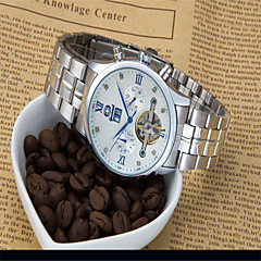 Men's Fashion Watch Quartz Alloy Band Casual Silver