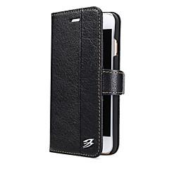 Για Θήκες Καλύμματα Πορτοφόλι Θήκη καρτών με βάση στήριξης Πλήρης κάλυψη tok Μονόχρωμη Σκληρή Γνήσιο δέρμα για AppleiPhone 7 Plus iPhone