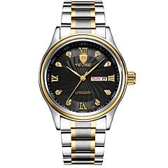 Tevise Heren Dress horloge Modieus horloge mechanische horloges Polshorloge Kwarts Kalender Waterbestendig Lichtgevend imitatie Diamond