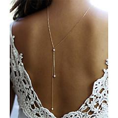 Damskie Naszyjniki z wisiorkami Pearl imitacja Line Shape Imitacja pereł Stop Unikalny Biżuteria Na Ślub Impreza Specjalne okazje