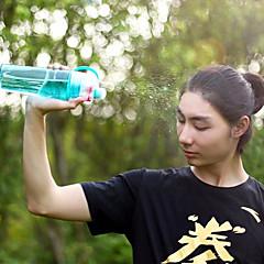 1pcs αθλητικό σπρέι μπουκάλι νερό διπλής χρήσης bpa δωρεάν πλαστικά μπουκάλια για το χώρο μόδα χώρο νερό φλιτζάνια