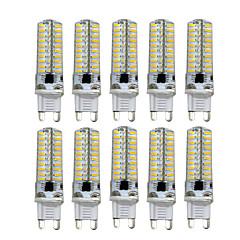 5W G9 G4 G8 GY6.35 LED Φώτα με 2 pin T 80 SMD 4014 400-500 lm Θερμό Λευκό Ψυχρό Λευκό Με Ροοστάτη AC110 AC220 V 10 τμχ