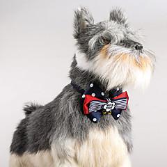 Kat hond verstelbare stippen kraag bowtie met klokken