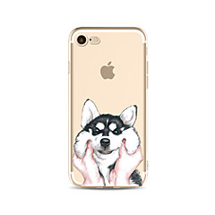 Voor transparant patroon geval hond soft tpu voor apple iphone 7 plus 7 iphone 6 plus 6 iphone 5 5c se iphone 4