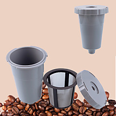 10 ml Metal Plastic Kahve Filtresi , Brew Coffee Maker Yeniden kullanılabilir