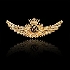 Naisten Poikien Muut Rintaneulat Personoitu Hip-Hop Rock Euramerican pukukorut Gold Plated Metalliseos Crown Shape Siivet / Sulka Korut