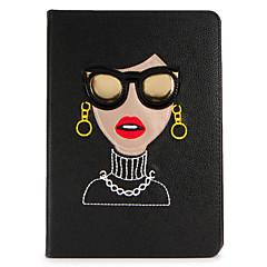 アップルipad mini1 2 3/4ケースカバースタンドフリップパターンフルボディケースセクシーな女性のハードPUレザー