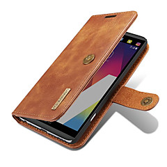 For LG G6 V20 Case Cover Card Holder Wallet with Stand Flip Magnetic Full Body Solid Color Hard Genuine Leather