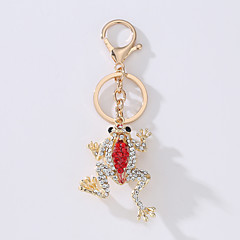 Le nouveau modèle de sacoche porte le porte-clés de l'idée du métal de la grenouille de la mode pour forer le porte-clés