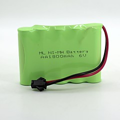 Ni-MH 6v aa bateria 1800mAh