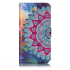 Voor lg g6 case cover half bloem patroon glans relief pu materiaal kaart stent portemonnee telefoon hoesje