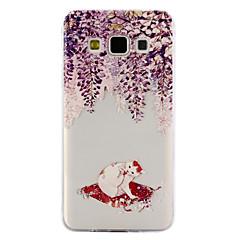 Voor Samsung Galaxy A3 A5 (2017) case cover kat patroon druppel lijm vernis hoogwaardig tpu materiaal telefoon hoesje a3 a5
