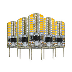 5 pcs YWXLIGHT® Dimmable G8 64 LED 3W 3014SMD 200-300 Lm Warm White Decorative LED Bi-pin Lights  AC 110V