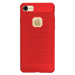 Για Apple iphone 7 plus 7 κάλυμμα περιβλήματος εξώφυλλο πίσω κάλυμμα συμπαγές χρώμα μαλακή ίνα άνθρακα 6s συν 6 plus 6s 6 5 5s se