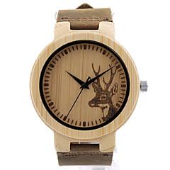 BOBO BIRD Men's Fashion Watch Wristwatch Unique Creative Cool Casual Genuine Leather Band Vintage Wooden Watches Japanese Quartz Wood Watch