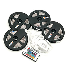 ZDM 20M(4*5M) 120W 600X5050 RGB LEDs Strip Flexible Light LED Tape String Lights DC 12V  with 1BIN4 connector and 24Key IR Remote Controller Kit