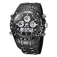 Masculino Relógio Militar Relógio de Pulso Quartzo Quartzo Japonês LCD Calendário Cronógrafo Impermeável Dois Fusos Horários alarme