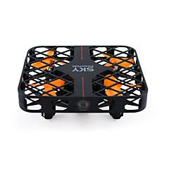 Drone RC 4CH 6 Eixos 2.4G - Quadcópero com CR Retorno Com 1 Botão Modo Espelho InteligenteQuadcóptero RC Controle Remoto 1 Bateria Por