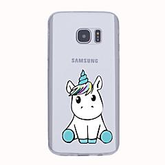 Για Θήκες Καλύμματα Εξαιρετικά λεπτή Με σχέδια Πίσω Κάλυμμα tok Μονόκερος Μαλακή TPU για Samsung S6 edge plus S6 edge S6 S5