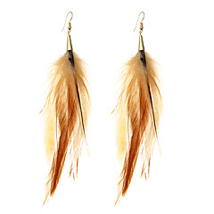 lureme®  Drop Earrings Jewelry Inlaid Sexy Multi-ways Wear Religious Jewelry Carved Elegant Durable Feather Alloy Geometric Wings / Feather Jewelry