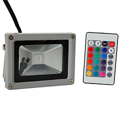 Hkv® 1 stk 10w 900-1000 lm rgb vandtæt festoon led floodlight integrere led ac85-265 v