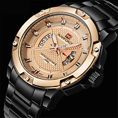 New NAVIFORCE Mens Watches Top Brand Luxury Fashion Casual Men Quartz Watch Stainless Steel Waterproof Gold Wristwatch